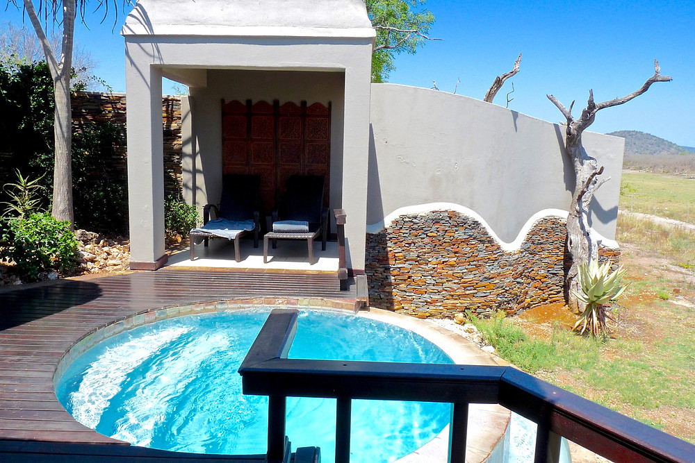 Private plunge pool at #JamalaMadikwe