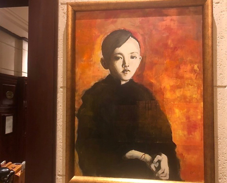 Joan Baez painting in Sofitel Legend Metropole Hanoi