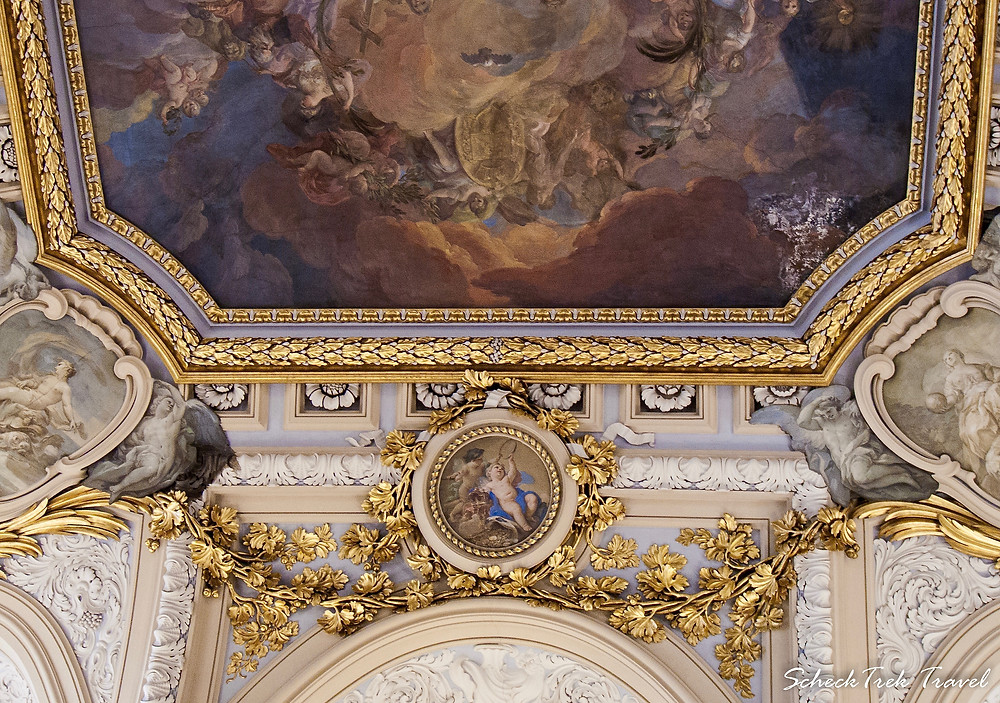 Gorgeous ceiling in Royal Palace, Madrid