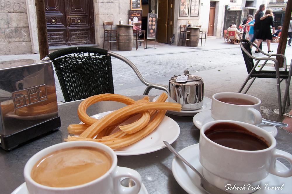 Churros & Chocolate at San Ginés, Madrid