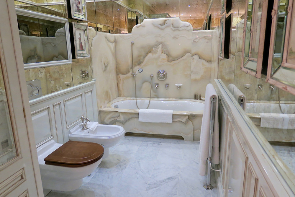 Bathroom of Reagan Presidential Suite, Ashford Castle