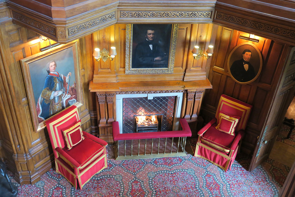 Oak Hall fireplace at Ashford Castle
