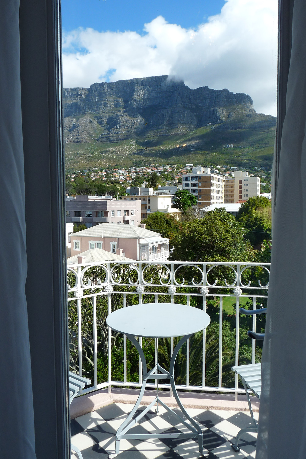 Table Mountain as seen from the Belmond Mount Nelson