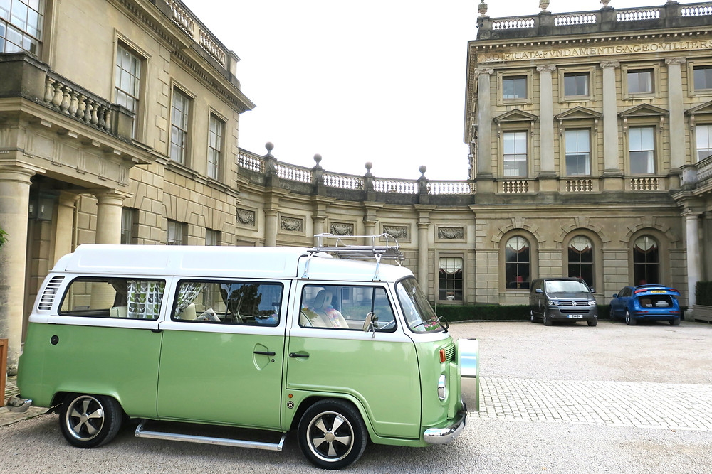 Restored vintage VW van at Cliveden House
