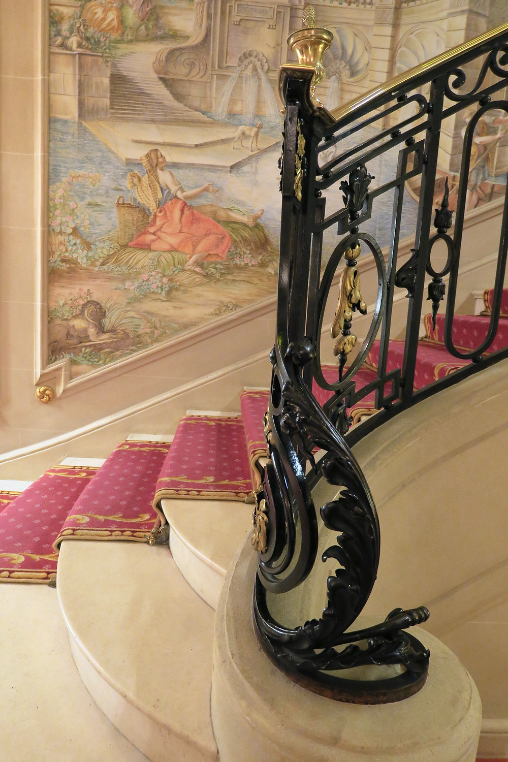 Close-up of the Staircase at The Ritz London