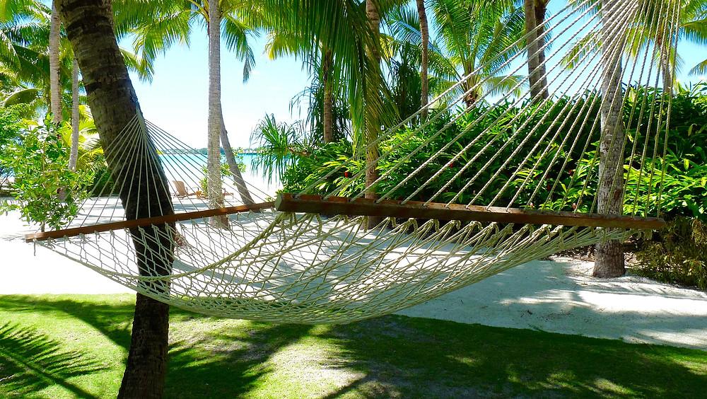 Hammock at a villa at Four Seasons Bora Bora