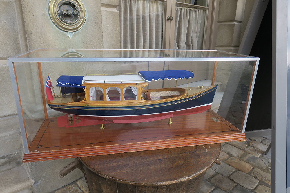 Model of one of Cliveden's vintage wooden boats