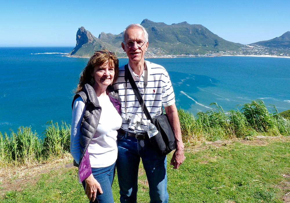 Al & Vicki Scheck at Hout Bay, South Africa