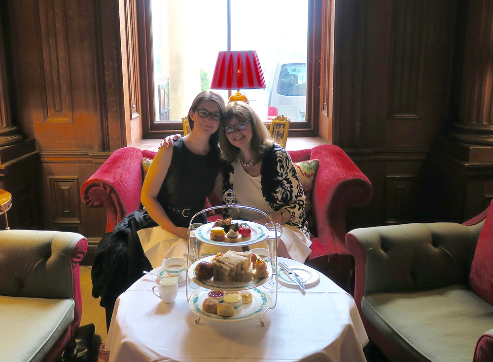 My daughter and me at afternoon tea, Cliveden House