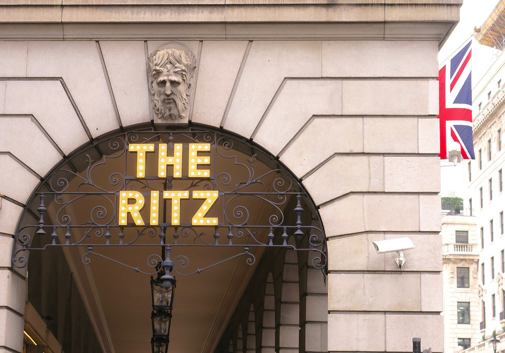 """The Ritz"" name in lights"