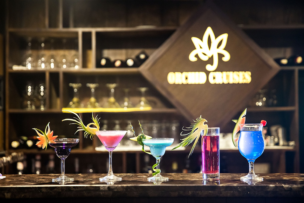 Orchid Cruises fancy cocktails