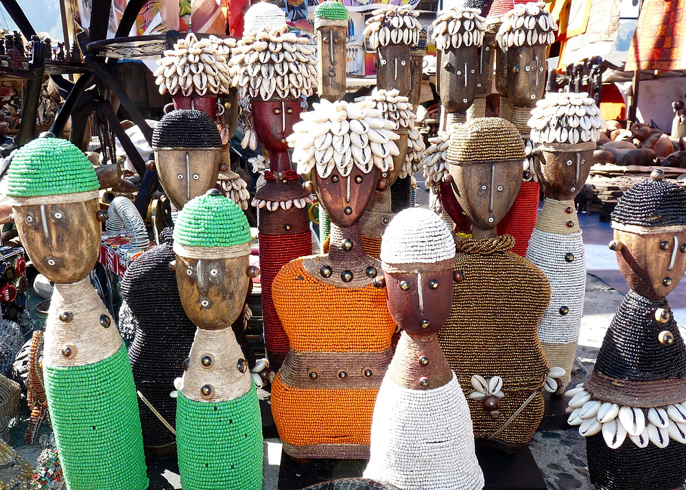 South African wooden doll sculptures