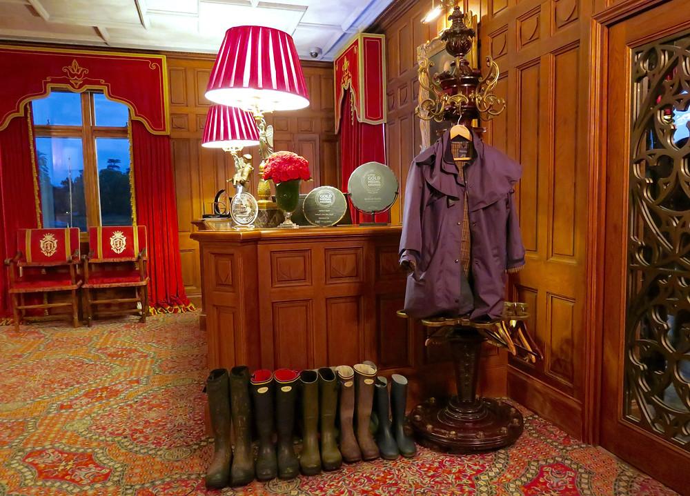 Reception room at Ashford Castle