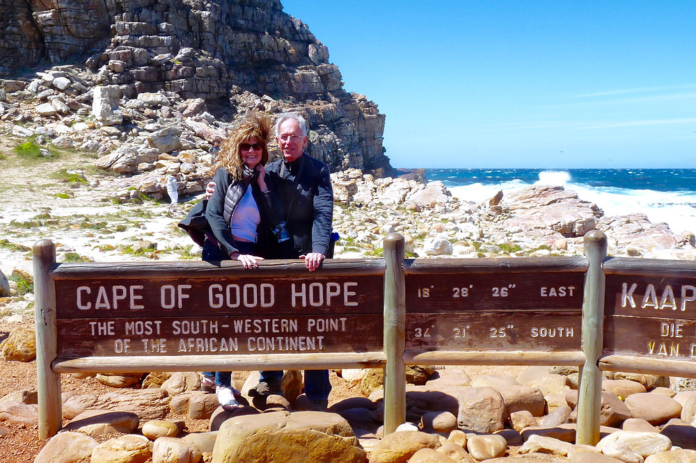 Al & Vicki Scheck at the Cape of Good Hope
