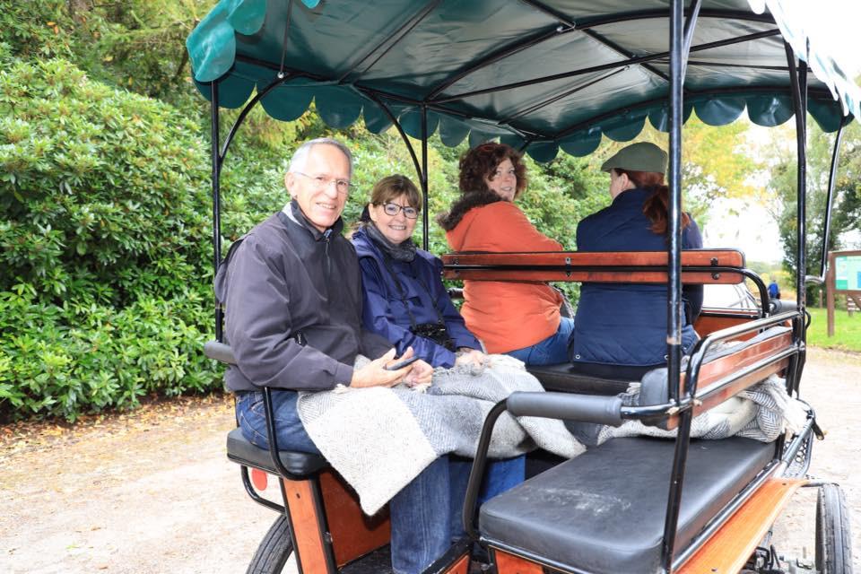 Horse-drawn cart ride at Ashford Castle