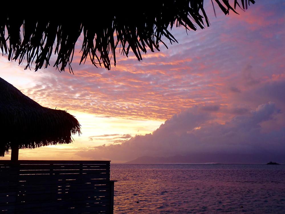 Sunset & water view at the Tahiti InterContinental