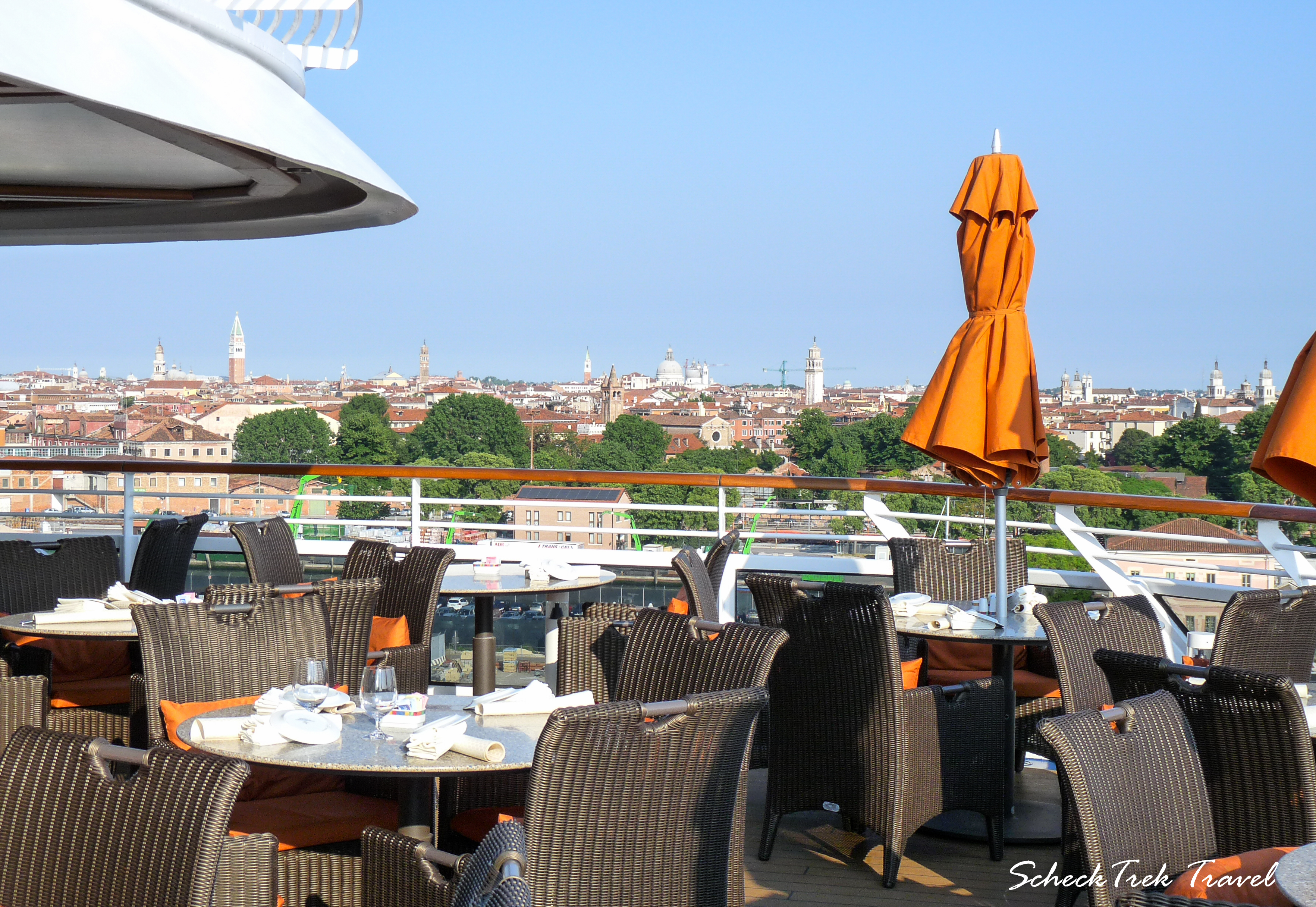 The Terrace Cafe overlooking Venice