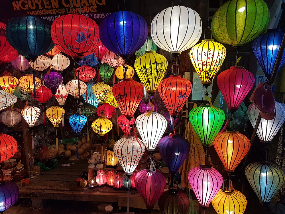 Silk lanterns for sale in Hoi An, Vietnam
