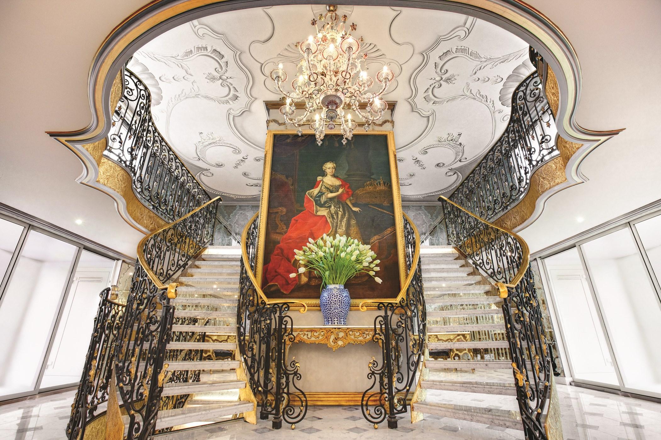 Uniworld's S.S. Maria Theresa Lobby