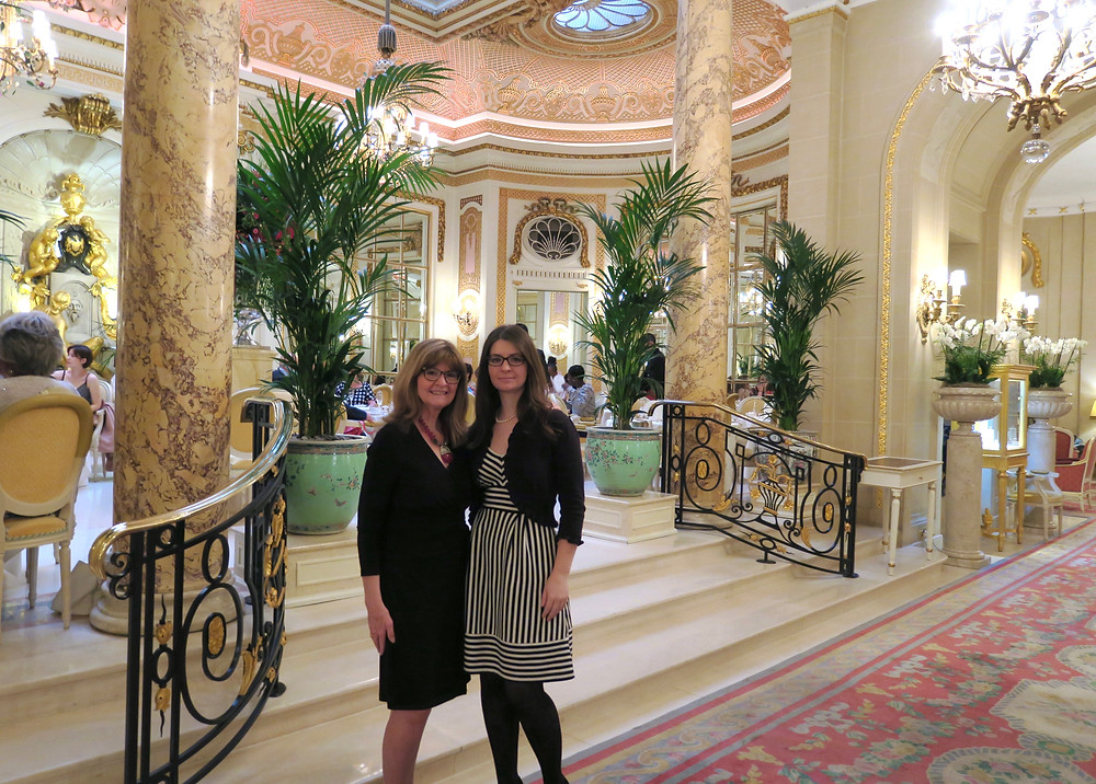 Vicki Scheck & Daughter at The Ritz London