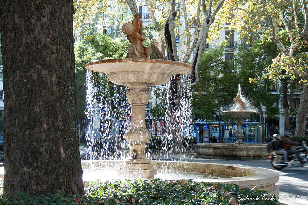 Fountains in Madrid