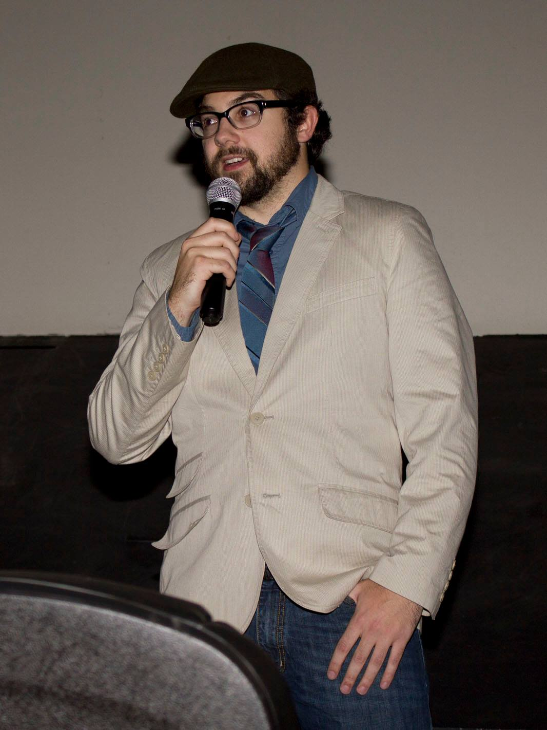 Speaking at BNFFF in 2015.