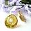 Thumbnail: Gold Pearl Disc Bridal Post Earrings