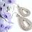 Thumbnail: Crystal Silver Tear Drop Bridal Earrings