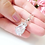 Thumbnail: Sparkling Cubic Zirconia Crystal Pendant Bridal Necklace
