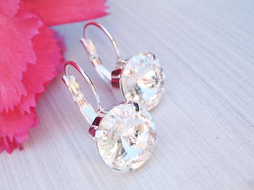 Large Sparkling Swarovski Crystal Bridal Earrings