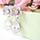 Thumbnail: Silver Flower Crystal Post Bridal Earrings