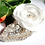 Thumbnail: Bridal White Flower with Couture Embroidered Leaf Hair Clip