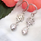 Thumbnail: Vintage Inspired Silver Earrings with Small Hanging Crystal