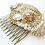 Thumbnail: Couture Gold and Pearl Bridal Hair Comb