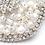 Thumbnail: Pearl and Crystal Couture Embroidered Bridal Hair Ribbon