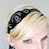 Thumbnail: Great Gatsby Inspired Black and SIlver Embroidered Hair Ribbon