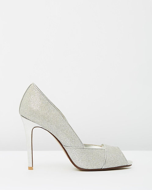 Izoa Sparkle Heels Silver