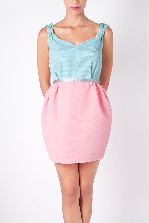 Anamayadesign Dress-blue/pink