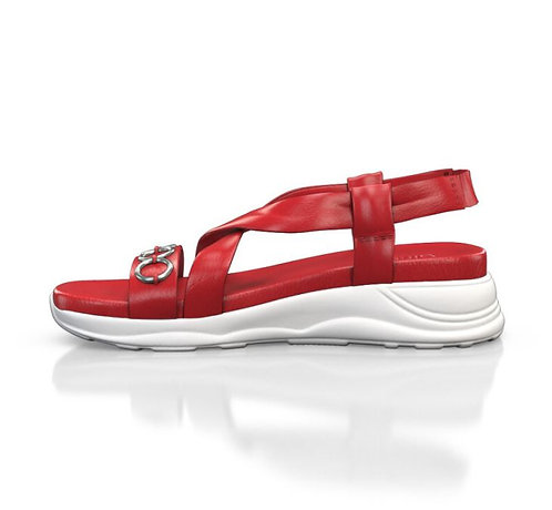 Chunky Sole- Red Leather Sandal
