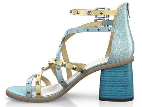 GI- Yellow Light Blue Strap Sandal