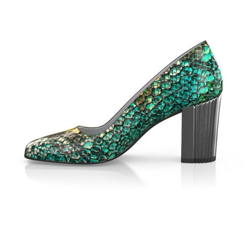 Green Snake Stamped Shoes