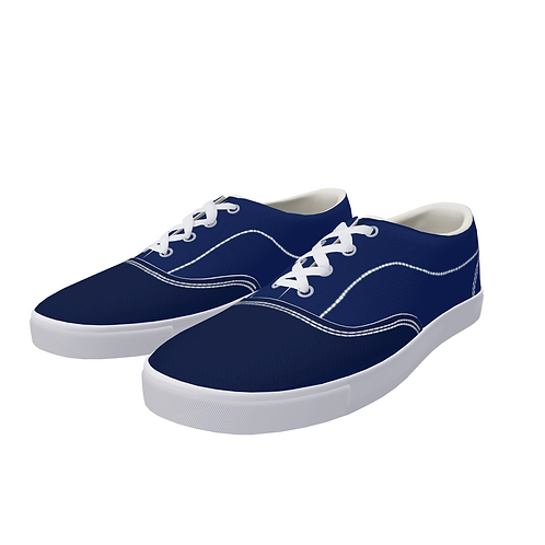 FYC Canvas Lace Up Two Tone Boat Shoes