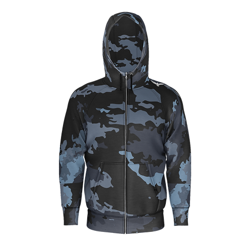 Men's Find Your Coast Camo Sustainable Zip-Up Hoodie Sweatshirt
