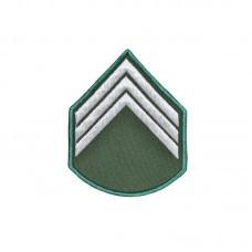 Divisa Bordada 3º Sargento Verde Oliva