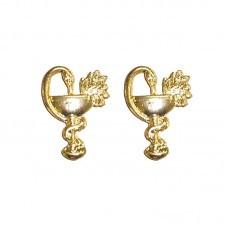 Distintivo Metal Gola Dourado Farmácia