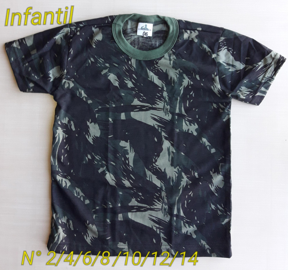 Camiseta Camuflada Infantil