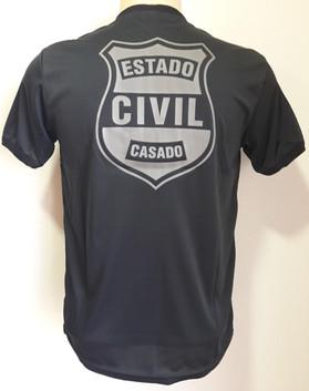 Camiseta Estampada Estado Civil Casado
