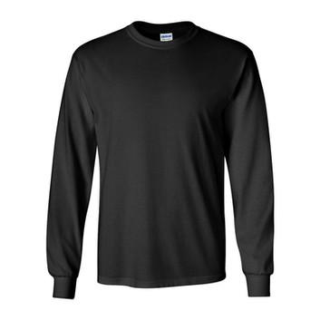 Camiseta Preta Lisa Manga Longa