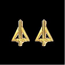 Distintivo Metal Gola Dourado QCO