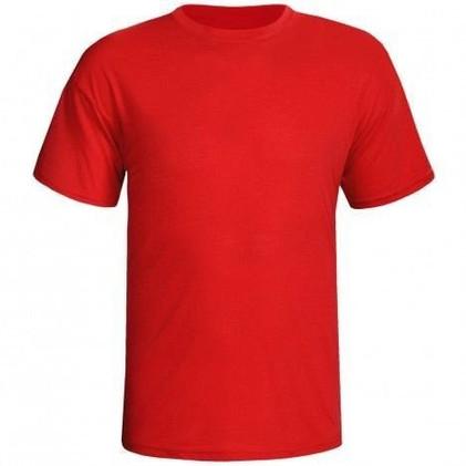Camiseta Vermelha Lisa Manga Curta